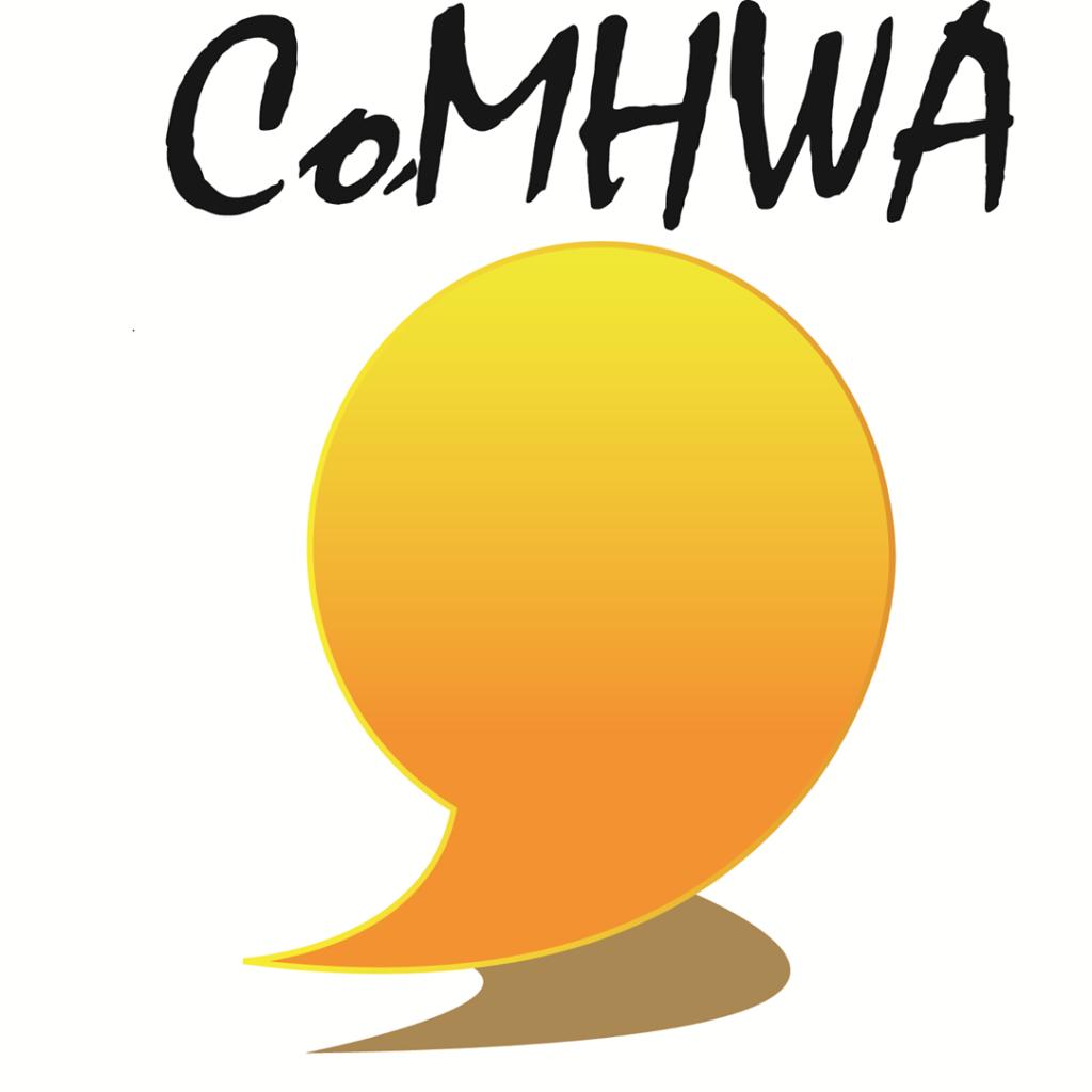 CoMHWA training logo featuring a yellow speech bubble