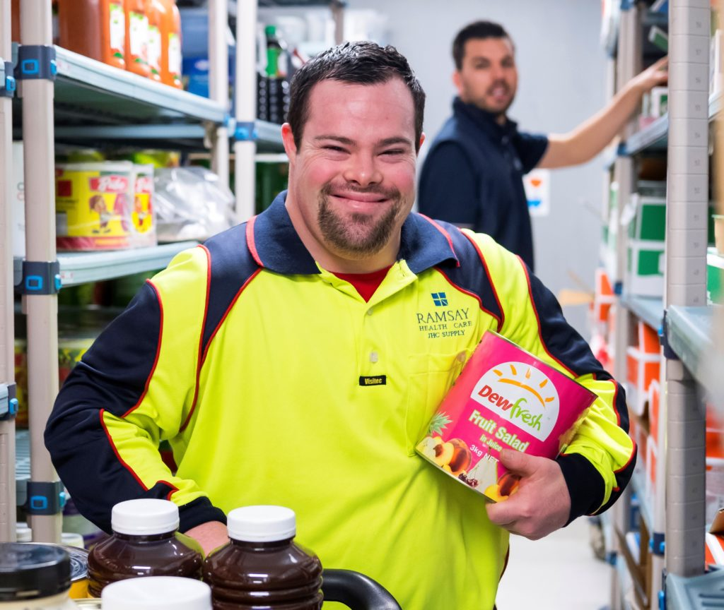 Christopher proudly working at Joondalup Health Campus