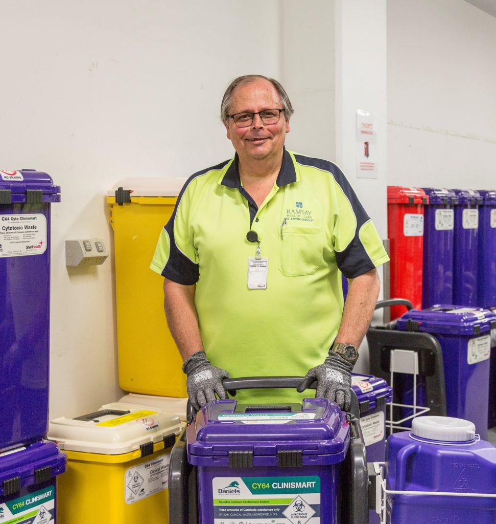 Martin smiling at work