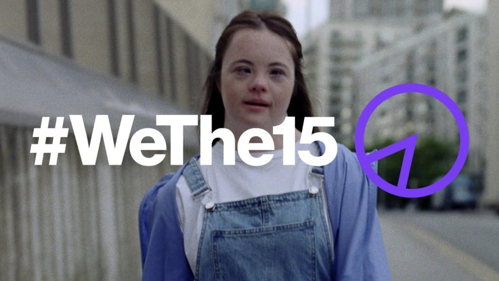Image of woman with the text #WeThe15 overlaid